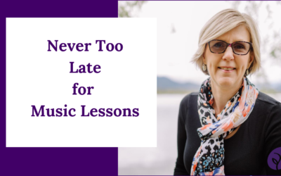Harp, Piano or Voice Lessons – It's Never Too Late!